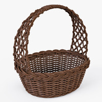 wicker basket color 3d max
