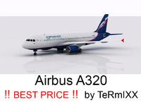 airbus a320 aeroflot 3d model