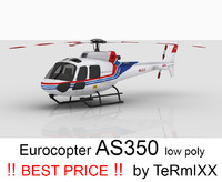 3d model helicopter eurocopter as350