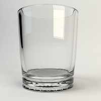 3d drink glass model