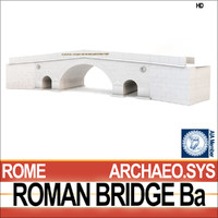 ancient roman bridge ba 3d c4d