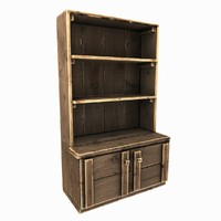 3d old wooden cupboard model