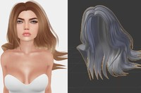 3d obj mesh hair