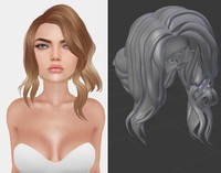 mesh hair 3d dwg
