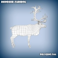 base mesh reindeer 3d c4d