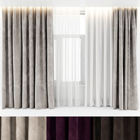 3d curtains velours
