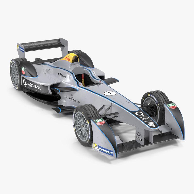Formula E Race Car Qualcomm 3d model 01.jpg