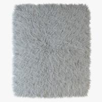 3d fur rug model