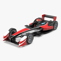 formula e race car 3d 3ds