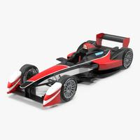 formula e race car 3d 3ds