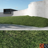 3d model grass lawn