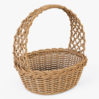 3d model wicker basket color