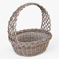 3d max wicker basket color