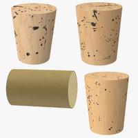 4 corks 3d max