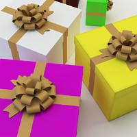 gift box set 3d obj