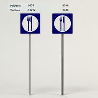 food signs 3d max