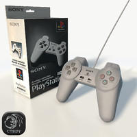 ps1 gamepad box 3d model