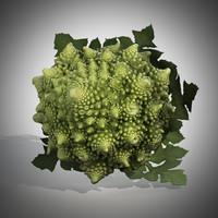 3d romanesco broccoli