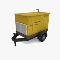 diesel generator 3d obj