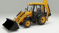 backhoe loader 3d max