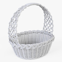 wicker basket color 3d model