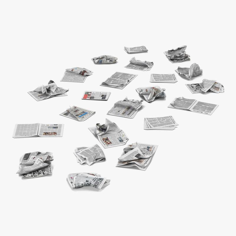 Newspaper Litter c4d 3d model 01.jpg