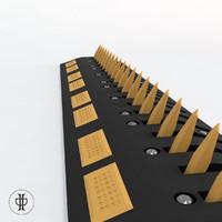 3d model road trap