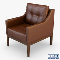 carmen armchair brown leather max