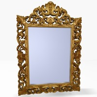 antique mirror 3d model