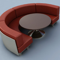 rounded armchair 3d model