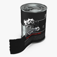 dog food tin 4 3d max