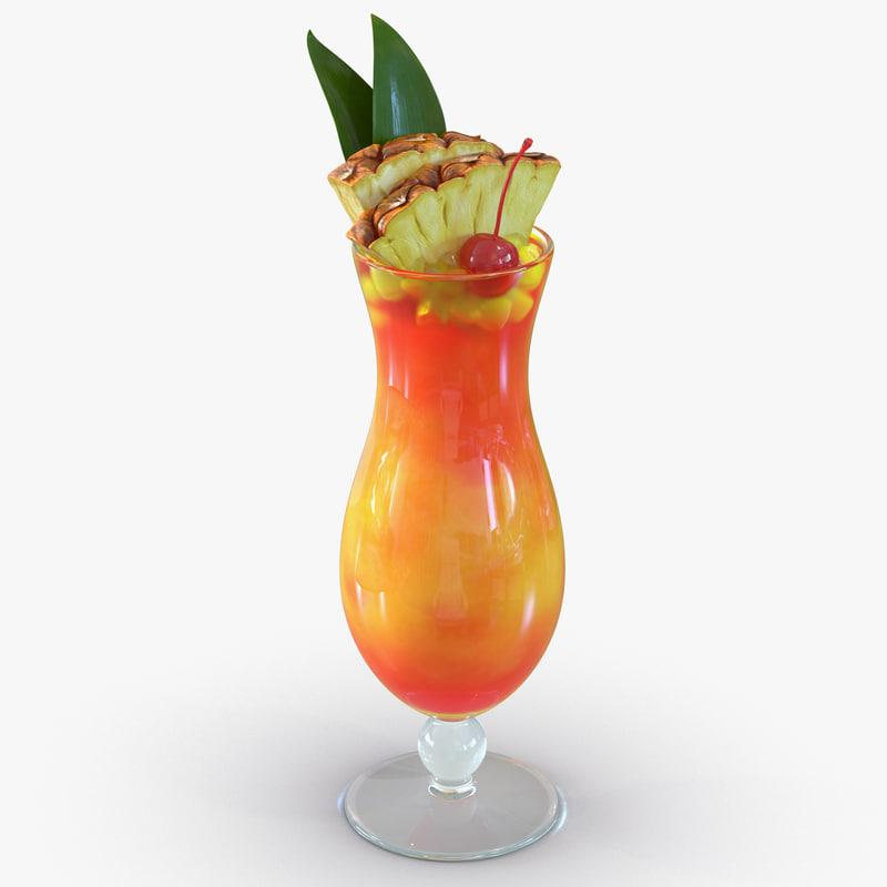 Mai Tai Cocktail 3d model 01.jpg