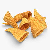 3d model realistic corn chip