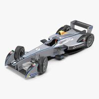 formula e race car 3d max