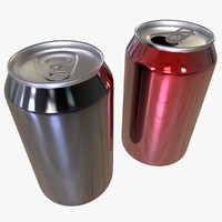 cans modelled 3ds