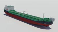 3d model offloading icebreaker tanker oil