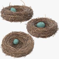 3d 3 bird nests