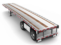 3d flatbed trailer benson model