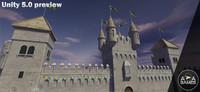 3d medieval castle pack model