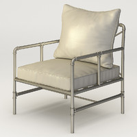 armchair houzz tallahassee pipe 3d model