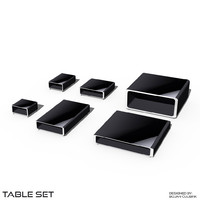 cube table set 3d obj