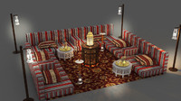 3d arabic seating model