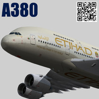 3d etihad airways livery model
