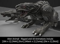 3d alien animal rigged