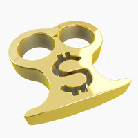 3d gold brass knuckles