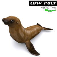 seal ready games 3d model