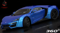 3d model w motors lykan hypersport