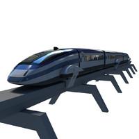 3d futuristic train model
