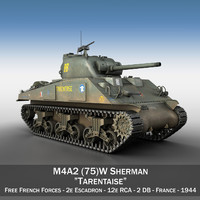 3d 3ds m4a2 sherman tarentaise -