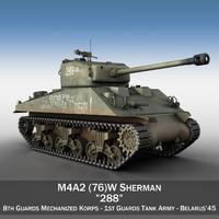 3d model m4a2 sherman 288 -